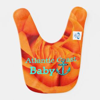 Costa color de rosa anaranjada de Atlántico del Baberos Para Bebé