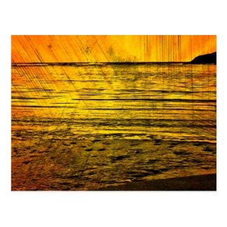 Costa costa amarilla de Canadá de la playa de la p Tarjeta Postal
