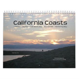 Costa costa de California - calendario