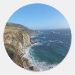 Costa costa de la central de California Pegatina Redonda