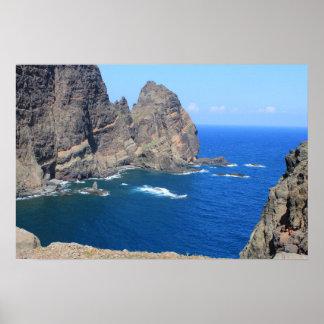 Costa costa de Madeira Impresiones