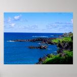 Costa costa de Maui - poster del océano de Hawaii