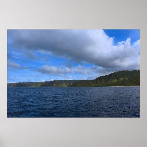 costa costa de Oahu de los waianae Impresiones