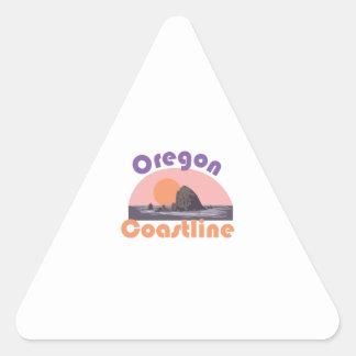 Costa costa de Oregon Pegatina Triangular