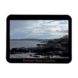 Costa costa de Portland Maine Imanes De Vinilo