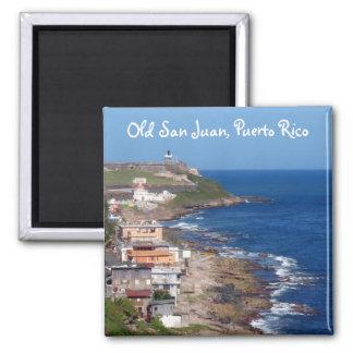 Costa costa de San Juan viejo Puerto Rico Imán De Frigorifico
