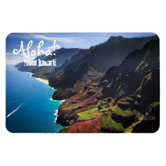 Costa costa del Na Pali en la isla de Kauai, Hawai Imanes Flexibles