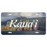 Costa costa del Na Pali en la isla de Kauai, Hawai Placa De Matrícula