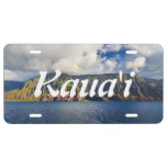 Costa costa del Na Pali en la isla de Kauai, Placa De Matrícula