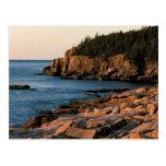Costa costa del parque nacional del Acadia, Maine Postales
