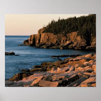 Costa costa del parque nacional del Acadia, Maine Póster