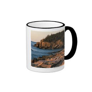 Costa costa del parque nacional del Acadia, Maine Taza A Dos Colores