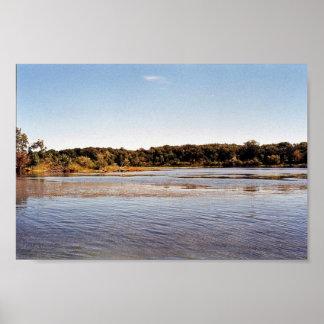 Costa costa del sur del pantano de Hennepin en el Impresiones