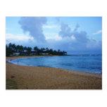 costa costa en la playa de Kauai-poipu Postal