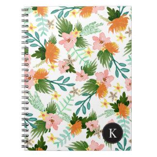 Costa costa floral libro de apuntes con espiral