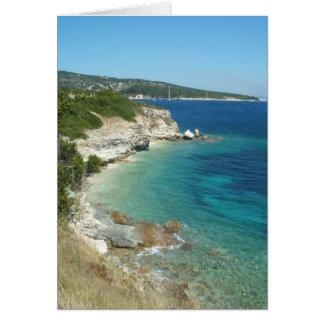 Costa costa griega II Tarjeta De Felicitación