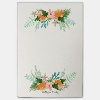 Costa costa personalizada del   floral nota post-it®