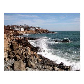Costa costa rocosa del puerto de York, Maine Tarjetas Postales