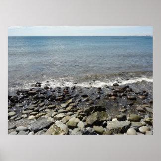 Costa costa rocosa póster