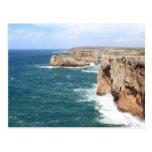 Costa costa rugosa de Sagres Algarve Postales
