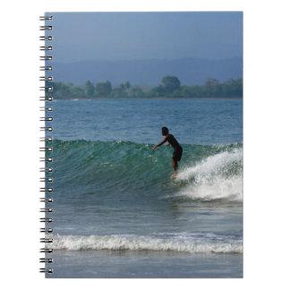 Costa costa tropical que practica surf de la caída