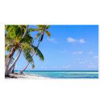 Costa costa tropical plantilla de tarjeta de negocio