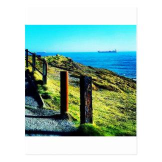 Costa costa viva tarjeta postal