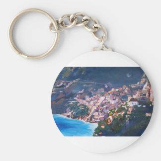Costa costa y paisaje mágicos en Amalfi, Italia Llavero Personalizado