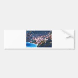Costa costa y paisaje mágicos en Amalfi, Italia Pegatina Para Auto