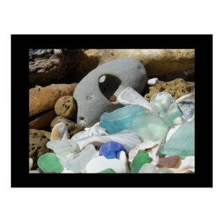 Costa costera de cristal del mar de las postales d
