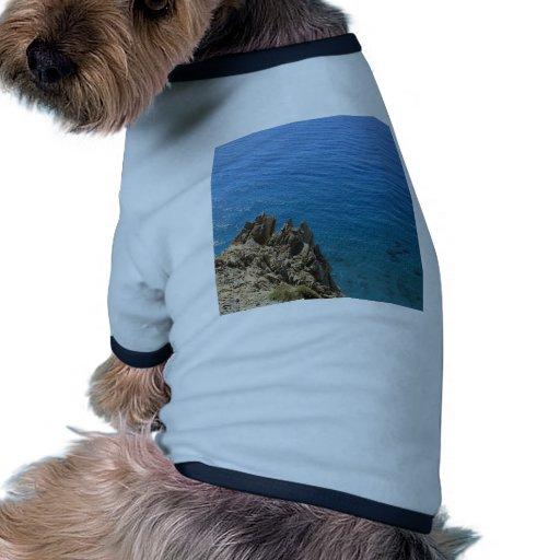 Costa cristalina del agua camisas de mascota