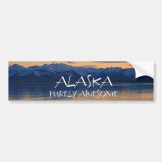 Costa de Alaska - puramente impresionante Etiqueta De Parachoque
