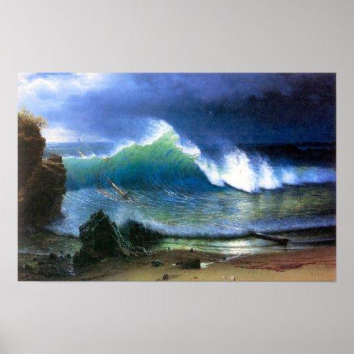 Costa de Albert Bierstadt-The del mar de la turque Posters