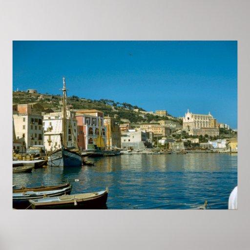 Costa de Amalfi, costa de Salerno Posters