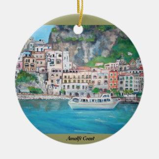 Costa de Amalfi - ornamento Adorno Navideño Redondo De Cerámica