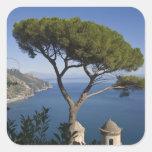 Costa de Amalfi, Ravello, Campania, Italia Pegatina Cuadrada