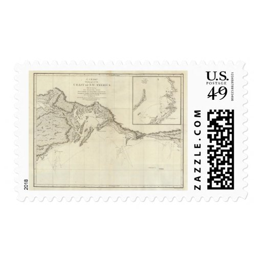 Costa de América del noroeste 7 Timbre Postal