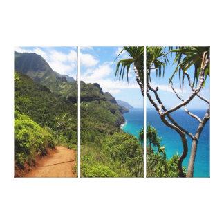 Costa de Arte-Kauai de la lona Impresión En Lienzo