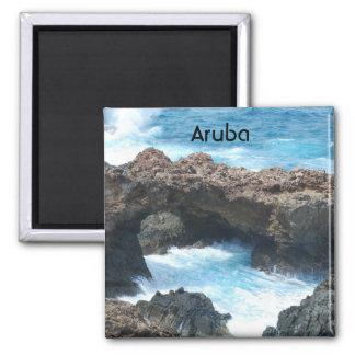 Costa de Aruba Imán Cuadrado