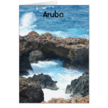 Costa de Aruba Tarjeta De Felicitación