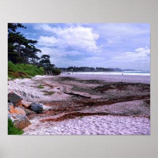 Costa de California en la playa de Carmel Póster