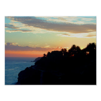 Costa de California en las palmas reales de San Pe Póster