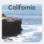 Costa de California Calcomanía Cuadradas Personalizada