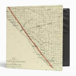 """Costa de California que muestra la grieta de San A Carpeta 1 1/2"""""""