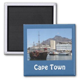 Costa de Cape Town V&A, Suráfrica Imán Cuadrado