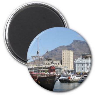 Costa de Cape Town V&A, Suráfrica Imán Redondo 5 Cm