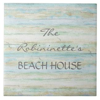 Costa de Coastal de la casa de playa del océano de Azulejo Cuadrado Grande