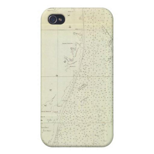 Costa de Delaware, Maryland, pinta de Virginia iPhone 4/4S Fundas