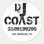 COSTA DE DJ PEGATINA REDONDA