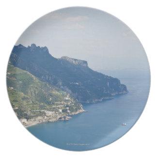 Costa de Italia, Amalfi, opinión de alto ángulo so Platos Para Fiestas